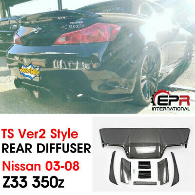 For Nissan 03-08 Z33 350z Infiniti G35 Coupe JDM TS Style Carbon Rear Diffuser, used for sale  Shipping to Canada
