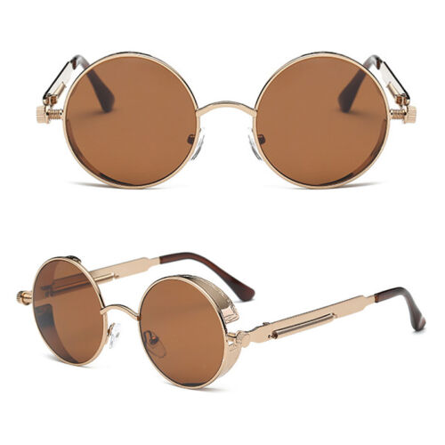 New Round Sun glasses Design Women Fashion Mens Brand Sunglasses Steampunk