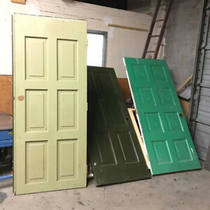 A few used solid wood door