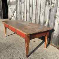 Reclaimed/antique/rustic work/dining table