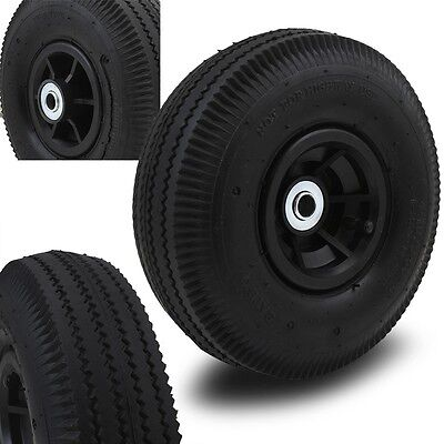 2 10 Air Wheels Replacement Tires For Hand Truck Dolly Cart Wheel Kayak Hub