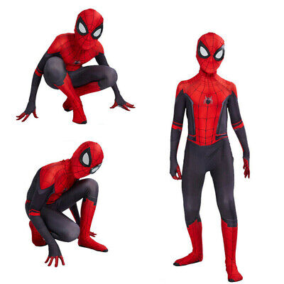 US Spider-Man: Far From Home Kids Children Peter Parker Zentai Cosplay Costume