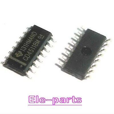 20 Pcs Cd4511bm Sop-16 Cd4511 Cmos Bcd-to-7-segment Latch Decoder Drivers