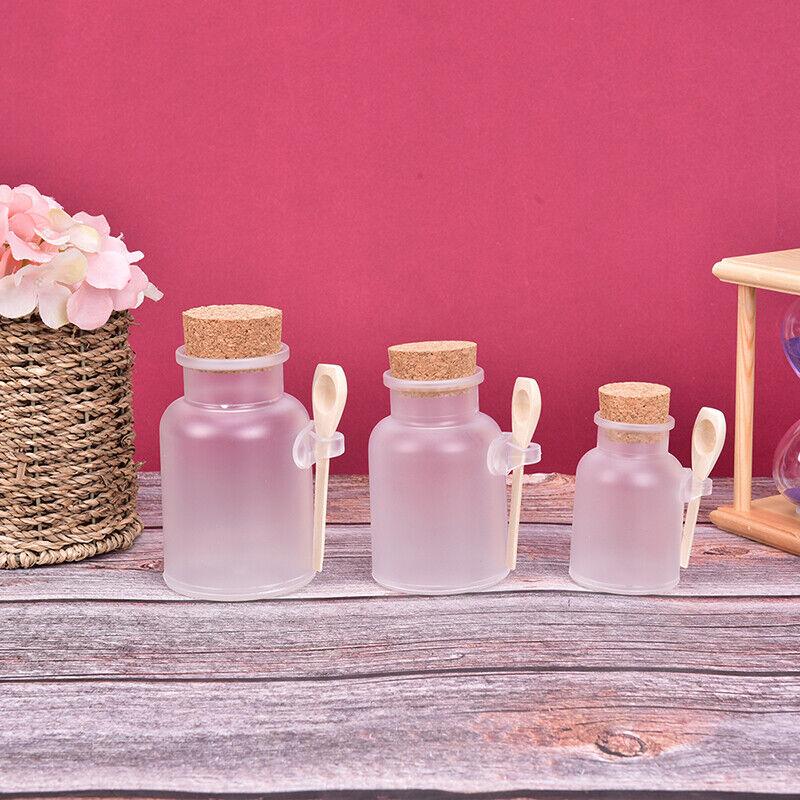 1Pcs Plastic Empty Bath Salt Bottle Cream Cosmetic Jar Cork