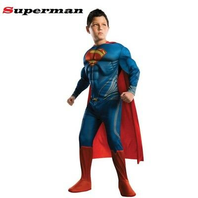 Superman Costume Halloween quality Cosplay Muscle Suit Boy Kid Clothing Set