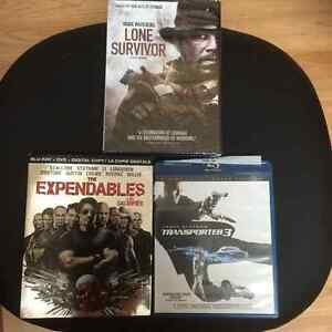 3 MOVIE DVD'S