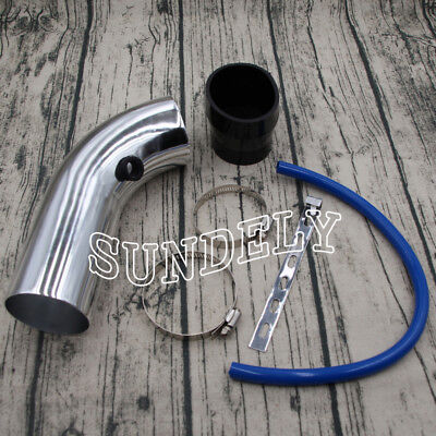 3''/ 76mm Car Cold Air Intake Induction Pipe Filter Tube Universal Fit Silver