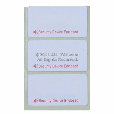 2000 Checkpoint Compatible 8.2 Rf Label 1x1.5 Size Security Device Enclosed