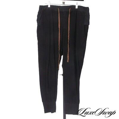 LNWOT Ziggy Chen Shanghai SS17 Black Shredded Patchwork Drawstring Pants 46 #2