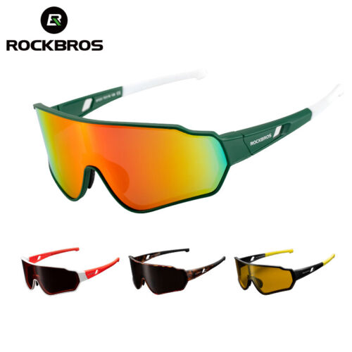 ROCKBROS Polarized Full Frame Sunglasses Outdoor Sports 100%UV400 Cycling Goggle