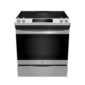 30-inch GE Electric Range, Convection, Stainless