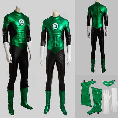 Green Lantern Hal Jordan Cosplay Costume Custom Made Jumpsuit Gloves Halloween](Green Lantern Gloves)