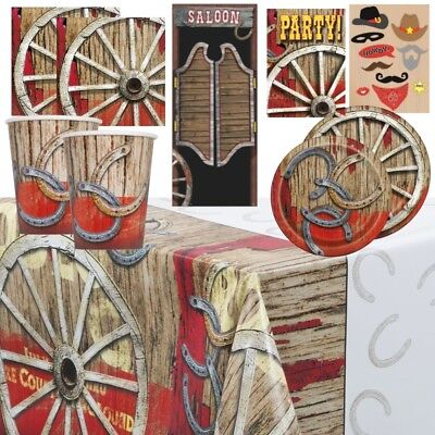 Rodeo Western Cowboy Party Supplies Tableware, Balloons & - Cowboy Party Supplies