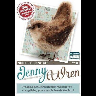 Crafty kit  Bird needle Felting Kit Jenny Wren SALE