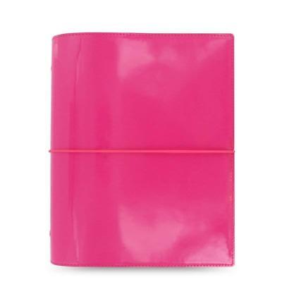 Filofax A5 Domino Patent Organizer Planner Notebook Diary Hot Pink - 022482 Chic