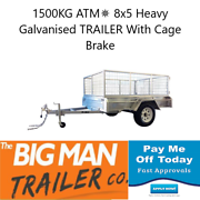 8X5 Heavy Duty Box Trailers With 600mm Cage Rust Free Clayton Monash Area Preview
