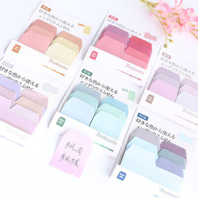 60 Pages Paper Sticky Notes Memo Pad Bookmark Sticker Notepad Stationery Note Memo Pad Notepad