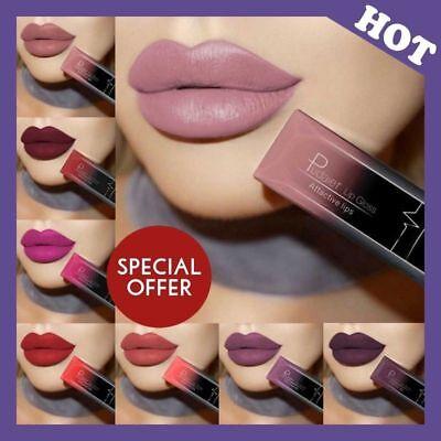 Make-up Matte Lipstick (PUDAIER Makeup Waterproof Matte Velvet Liquid Lipstick Long Lasting Lip Gloss DE)