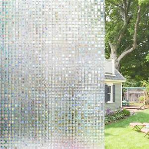 Mosaic Sqaure Iridescent Privacy Window Decorative Film