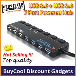 Refurbished-mbeat-7-port-USB3-0-USB2-0-USB-Hub-with-individual-switch-AU-stock