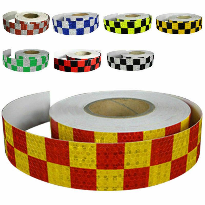 L:3M Square Safety Reflective Self adhesive Hazard Caution Warning Tape Sticker