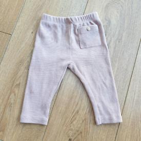 4477c8e83ced7 Zara baby girl dusky pink nude ribbed leggings. 3-6 months