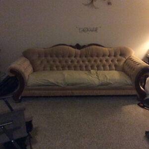 Beige Couch and Chair