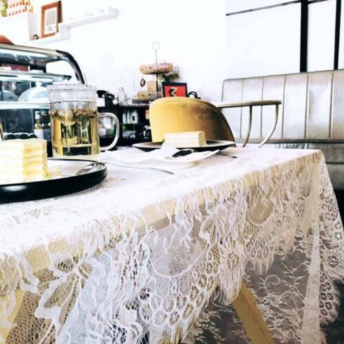 Table Runners For Wedding White Eyelash Lace Tablecloth Flor
