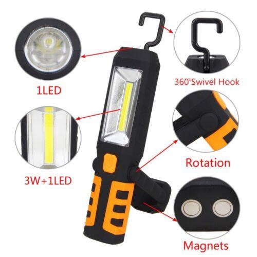 Bauleuchte Strahler Werkstatt Kfz 2x LED Arbeitslampe /& Taschenlampe mit Magnet
