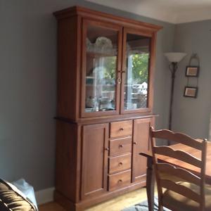 Solid wood dinning room set