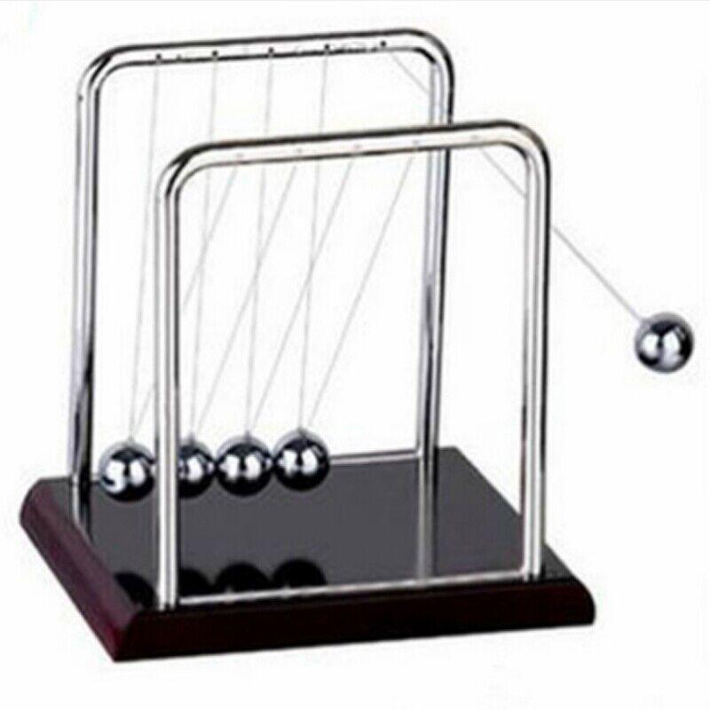 Newtons Cradle Balance Ball Physics Science Pendulum Kids Desk/Office Decor Toy