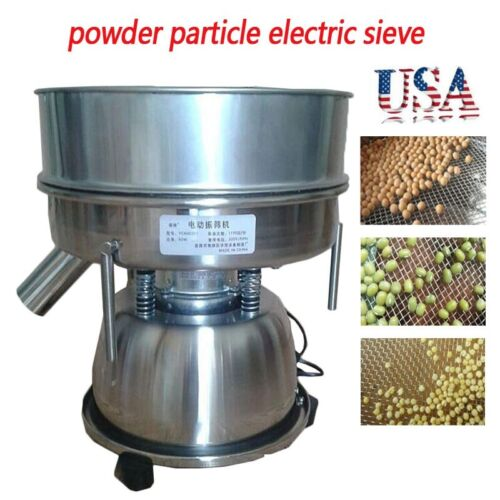 110V Stainless Steel Electric Mechanical Sieve Shaker Vibrating Machine Sifters