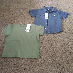 Gymboree toddler boys shirts 12-18 months **brand new**