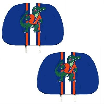 Florida Gators 2-Pack Color Print Auto Car Truck Headrest Covers