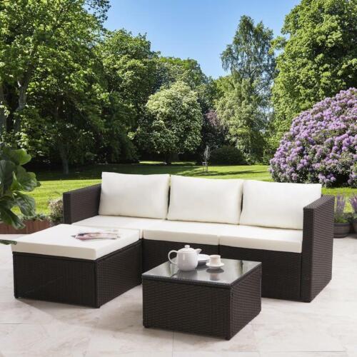 Garden Furniture - Rattan Corner Sofa Set Garden Furniture