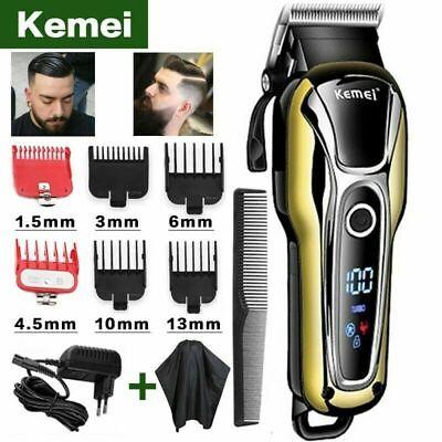 Kemei-cortadora de pelo eléctrica, máquina profesional de peluquero con cabezal