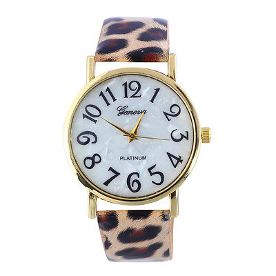 Fashion Women Retro Digital Dial Leather Band Quartz Analog Wrist Watch  Unique