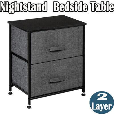 2 layer nightstand shelf storage bedside furniture