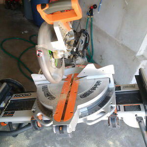 "RIDGID 12"" Sliding Compound Miter Saw With Utility Stand"
