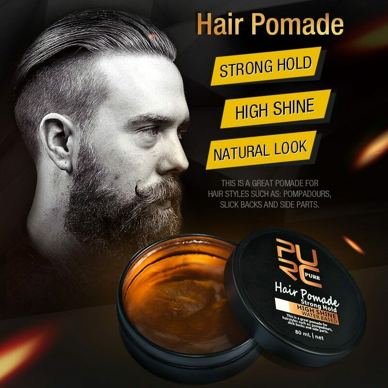 Hair Pomade Strong Hold HIGH SHINE Natural Look Hair Cream f