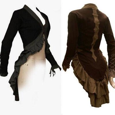 Women's Vintage Victorian Renaissance Gothic Tops Costume Medieval Coat Jacket (Top Costumes For Women)