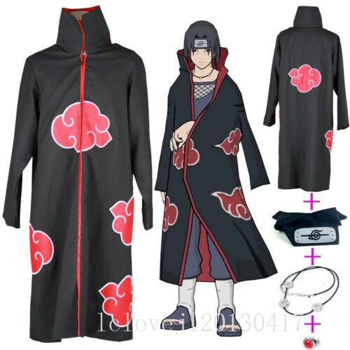 New Cosplay Anime Akatsuki Itachi Uchiha Deluxe Halloween Overcoat Cloak