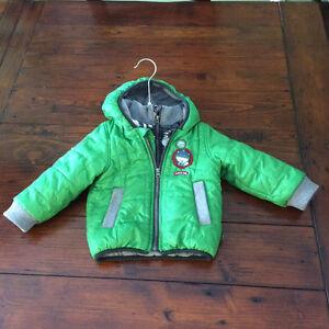 Souris mini light double zip puffer jacket