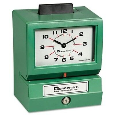 Acroprint Heavy Duty Time Clocks- Manual-125qr4 01-1070-413 Time Clocks New