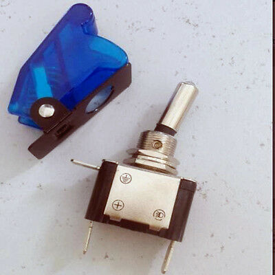 Military Racing Aircraft Style 12v Led Light Toggle Switch Safety Coverwcb