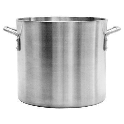 Thunder Group Professional Cookware, 40 Qt Aluminum Stock Pot, 6Mm Heavy Duty