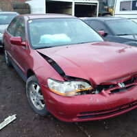 2001 HONDA ACCORD JUST ARRIVED FOR PARTS AT PIC N SAVE!