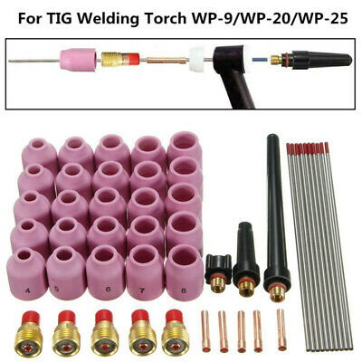 48x Argon Arc Welding Gas Lens For Tig Torches Wp-9 Wp-20 Wp-25 Series Supplies