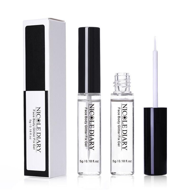 NICOLE DIARY 5g Face Body Glitter Fix Gel Adhesive Glue Make