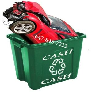 ➧ INSTANT CASH ➧ Get upto $2,300 FOR SCRAP CARS ➧ 647.848.7222